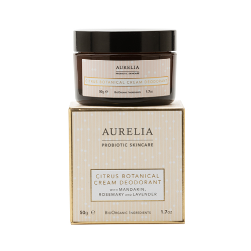 Aurelia Probiotic - Citrus Botanical Cream Deodorant  with Mandarin, Rosemary, Lavender